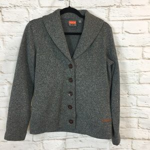 Merrell Gray Cardigan Sweater Size Small